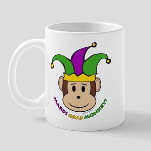 Mardi Gras Monkey Mug
