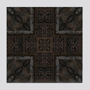 Ancient Cross Pattern Tile Coaster