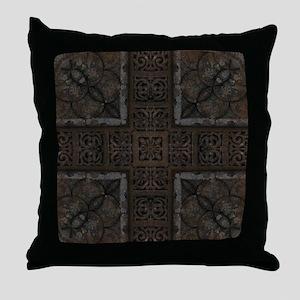 Ancient Cross Pattern Throw Pillow