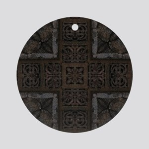 Ancient Cross Pattern Round Ornament