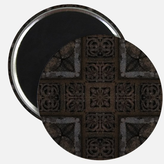 Ancient Cross Pattern Magnets