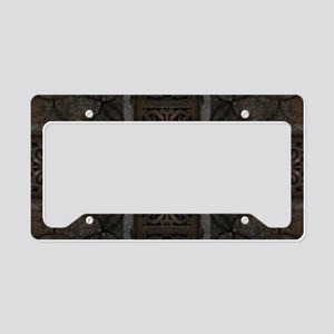 Ancient Cross Pattern License Plate Holder