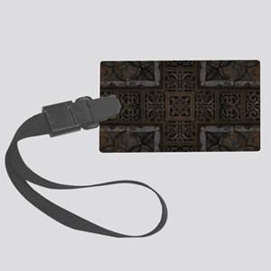 Ancient Cross Pattern Large Luggage Tag