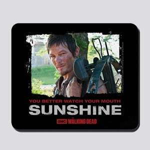 Daryl Dixon Watch Your Mouth Mousepad