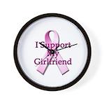 I Support My Girlfriend Wall Clock