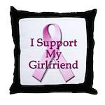 I Support My Girlfriend Throw Pillow