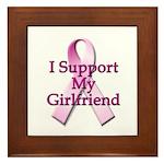 I Support My Girlfriend Framed Tile