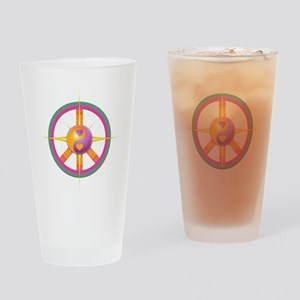 Peace and Harmony Drinking Glass