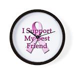 I Support My Best Friend Wall Clock