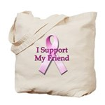 I Support My Friend Tote Bag