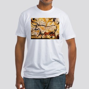 Second Bull, Cave Painting, L Fitted T-Shirt