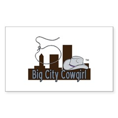 Bigcitycowgirl Logo Sticker (rectangle)