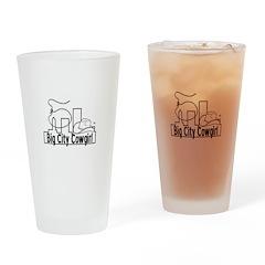 Bigcitycowgirl Logo Drinking Glass