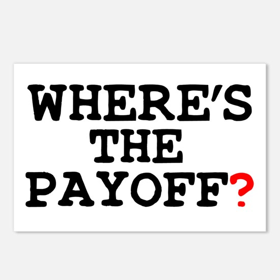 WHERES THE PAYOFF Postcards (Package of 8)