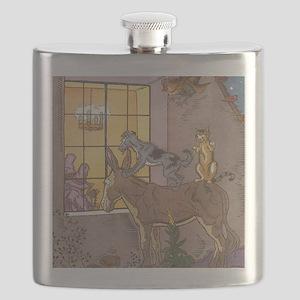 Vintage Bremen Town Musicians Fairy Tale Flask