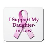 I Support My Daughter-in-Law Mousepad