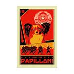 Obey the Papillon! Mini Poster Print