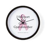 I Support My Great Grandma Wall Clock