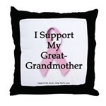 I Support My Great Grandma Throw Pillow