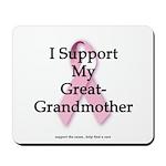 I Support My Great Grandma Mousepad