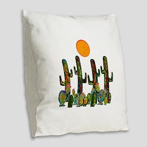 FOUND THE LIGHT Burlap Throw Pillow
