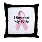 I Support My Wife Throw Pillow