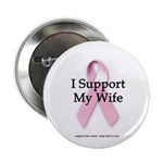 I Support My Wife Button