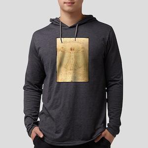 Human Anatomy, Vitruvian Man by Mens Hooded Shirt