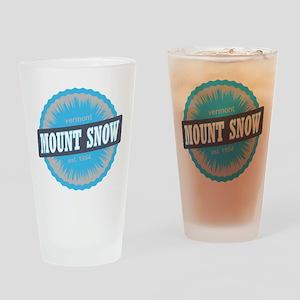 Mount Snow Ski Resort Vermont Sky Blue Drinking Gl