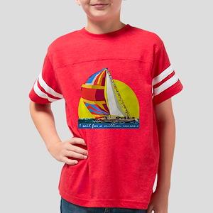 I sail 2 TRANSPARENT Youth Football Shirt