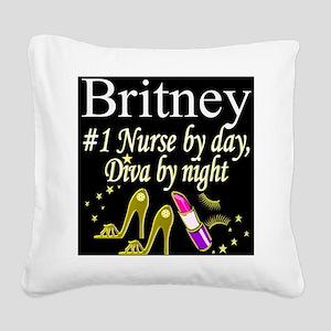 CHIC NURSE Square Canvas Pillow