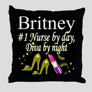 CHIC NURSE Throw Pillow