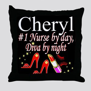 CHIC NURSE Throw Pillow