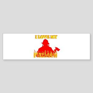 I LOVE MY FIREMAN SHHIRT SEXY Bumper Sticker