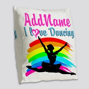 BALLET DANCER Burlap Throw Pillow