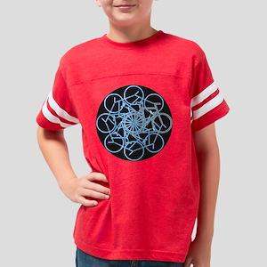 bicycles art - blue 8 on blac Youth Football Shirt