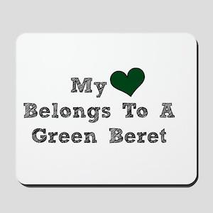 My Heart Belongs To A Green Beret Mousepad