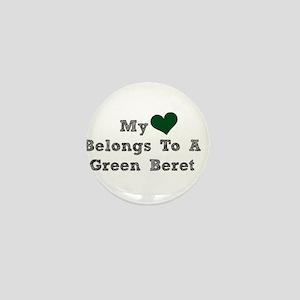 My Heart Belongs To A Green Beret Mini Button