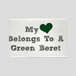 My Heart Belongs To A Green Beret Magnets