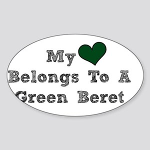 My Heart Belongs To A Green Beret Sticker