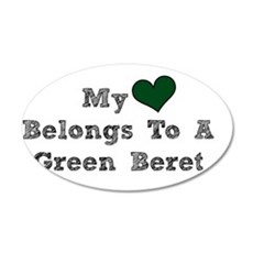 My Heart Belongs To A Green Beret Wall Decal