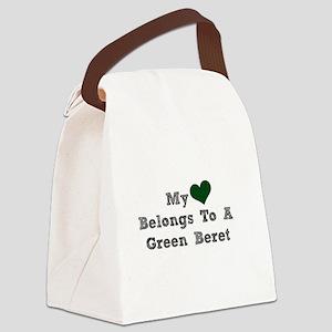 My Heart Belongs To A Green Beret Canvas Lunch Bag