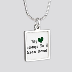 My Heart Belongs To A Green Beret Necklaces