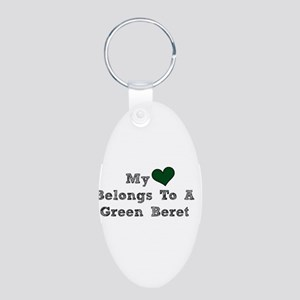 My Heart Belongs To A Green Beret Keychains