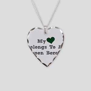 My Heart Belongs To A Green Beret Necklace