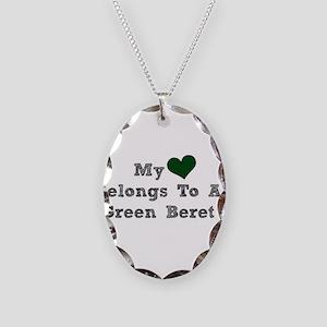 My Heart Belongs To A Green Beret Necklace