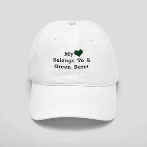 My Heart Belongs To A Green Beret Baseball Cap