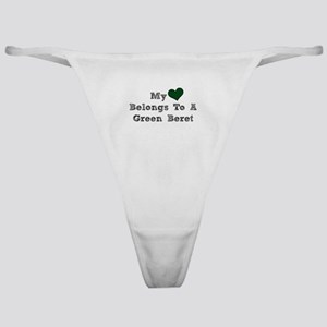 My Heart Belongs To A Green Beret Classic Thong