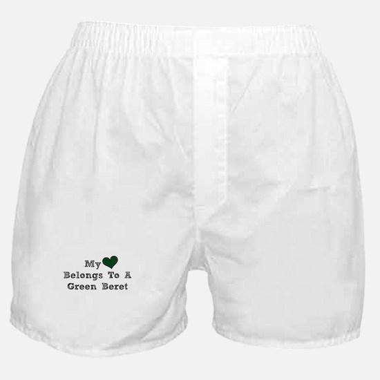 My Heart Belongs To A Green Beret Boxer Shorts