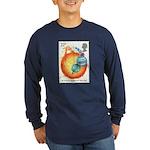Isaac Newton Long Sleeve Navy T-Shirt